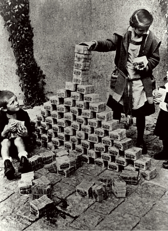 Hyperinflation in Germany in the early 1920's