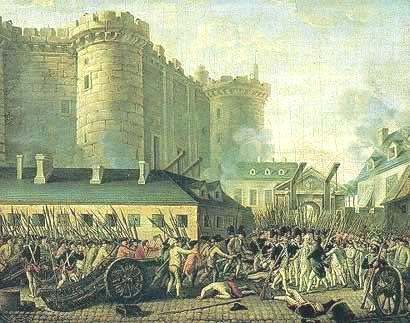 The attack on the fortress of Bastille d. 14 June 1789