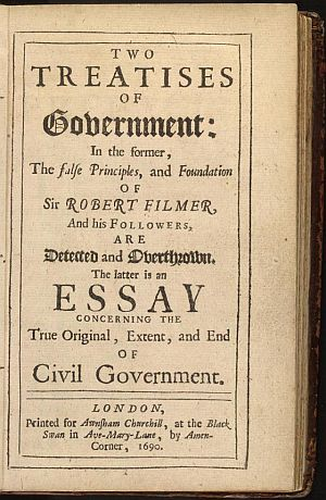 Second Treatise of Goverment by John Locke.