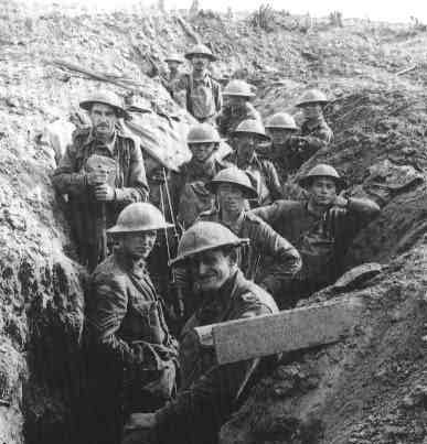 Australian soldiers at Ypres - First World War