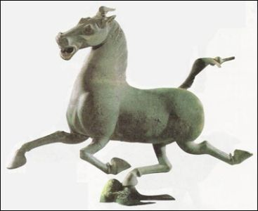 The Han dynasty bronze horse from Gansu