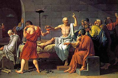 The death of Socrates. Painting by David