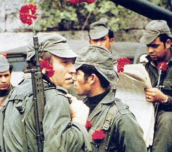 The carnation revolution in Portugal 1974