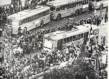 In Athens the polytechnic students demonstrated against the Papadopolus dictatorship in 1974