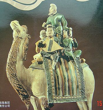 Musicians on camel - found in Tang Dynasty grave near Xian - The National Museum of Chinese History