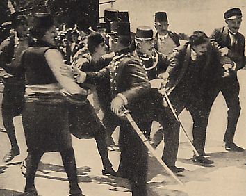 Gavrillo Princip is arrested after the assassination