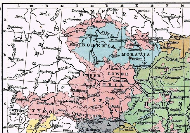 Language Distribution in Czechoslovakia in 1911 when it still belonged to Austria-Hungary
