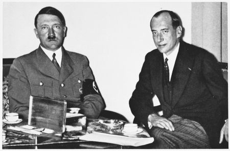 The German chancellor Adolf Hitler and the Polish premier Beck.