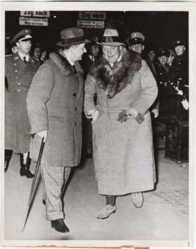 Lipski and Goering meet in 1935 before a hunting excursion in  Eastern Poland