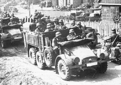 German troops in Poland