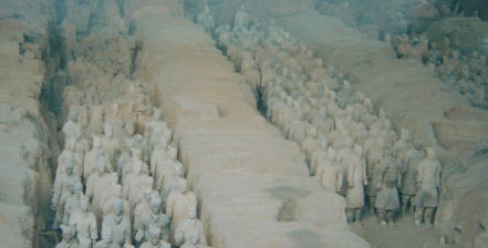 The Qin emperors terracotta soldiers