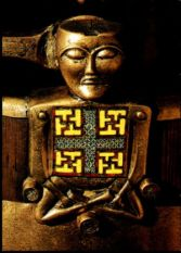The - Budha found in the Oseberg Ship in Norway 200 - 400 AC