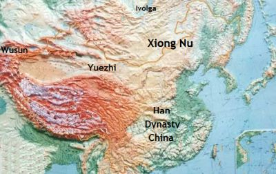 Xiongnu  lived on the eastern plains