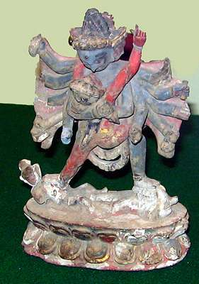 A Dan Xiang god performs the cosmic dance. From the museum in Yinchuan