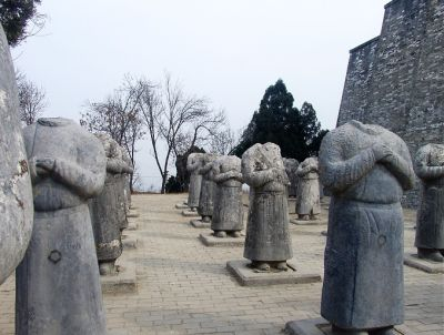 At the  Tang Empress Wu Zetian's (624-702AC) funeral attended 61 kings  from North.