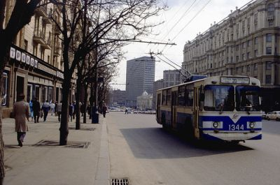 A street in Moskva in 1991