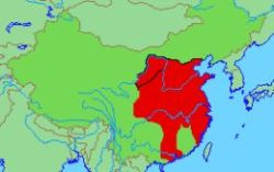 The extent of the Qin Dynasty
