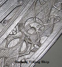 Detail from the Oseberg Viking ship in Norway