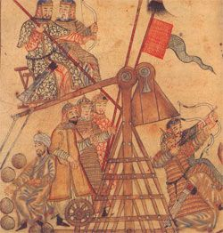 Mongol siege machines - Persian drawing