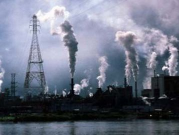 Typical polluting heavy industry