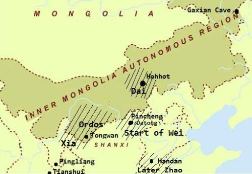 Map of Inner Mongolia