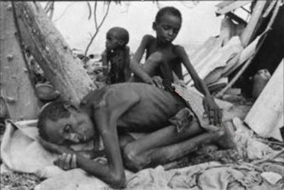 Famine in Africa - perhaps in Ethiopia