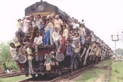 Crowdy Indian train