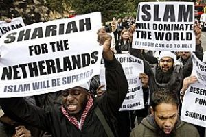 Muslimk demonstration i Holland