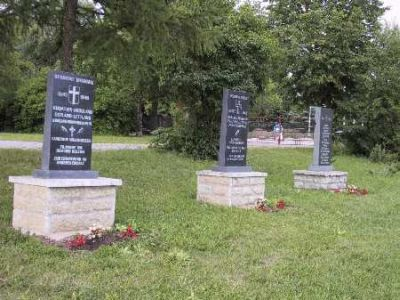 Memorials for danish soldiers at Kinderheim in Estonia