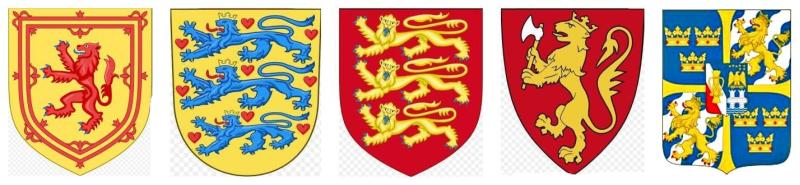 Lions in European Coat of Arms