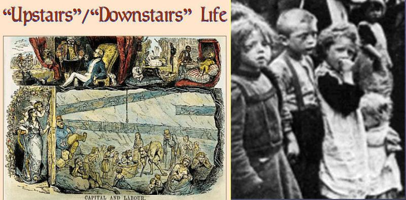 Upstairs and downstars life and English working class children