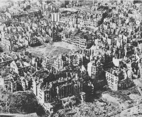Warsaw in 1945 after the war