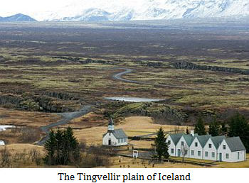 The Tingvellir plain of Iceland