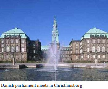 Danish parliament meets in Christiansborg