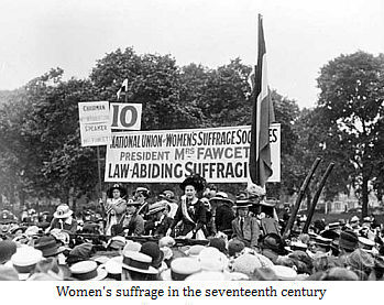 Women's suffrage in the seventeenth century