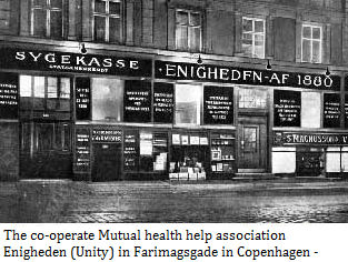 The co-operate Mutual health help association Unity in Farimagsgade in Copenhagen - 1900