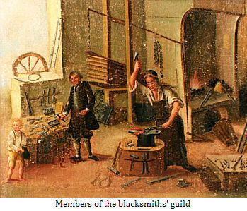 Members of the blacksmiths' guild